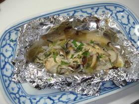 味噌マヨ味の牡蠣のホイル焼