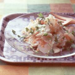 大根と鮭フレークのサラダ