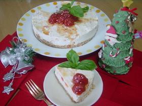 プチトマトのレアチーズケーキ