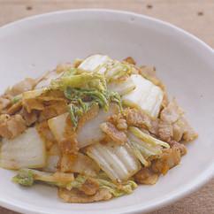 白菜と豚肉の桜えび炒め