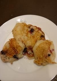 バナナとブルーベリーの米粉パンケーキ