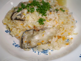 牡蠣のピラフ