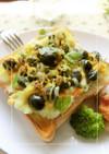 リメイク*ポテサラ×黒豆のカレートースト