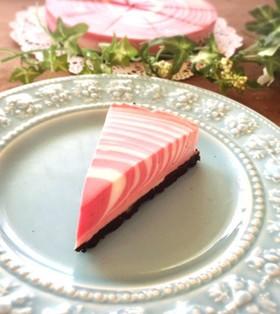 ☆赤いゼブラケーキ☆