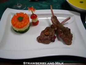 ラム肉(仔羊)の香草焼き