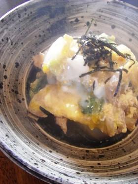 甘い!白菜の蒸し物 卵とじ