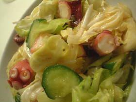 タコとキャベツの中華サラダ