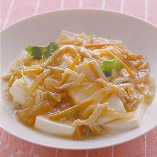 温豆腐の野菜あんかけ