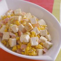 豆腐とコーンの中華風炒め