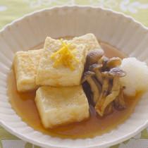 揚げだし豆腐ときのこのおろし添え