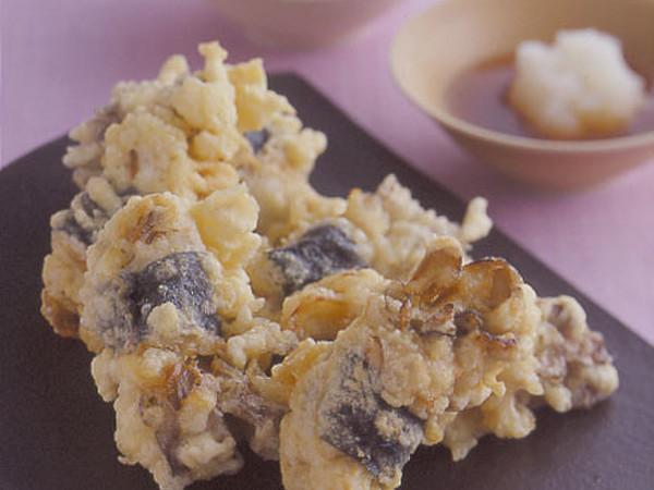 まいたけの肉巻き天ぷら