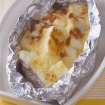 豆腐とたらのみそチーズ焼き