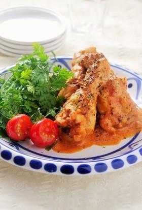 鍋任せで!鶏肉のトマトクリーム煮込み