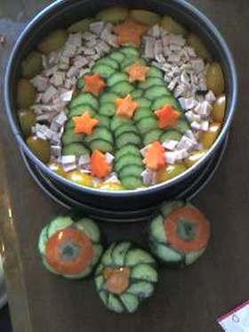 クリスマスデコレーション寿司