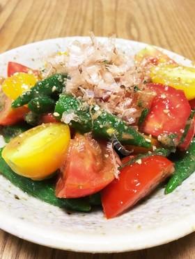 オクラとトマトの梅肉サラダ