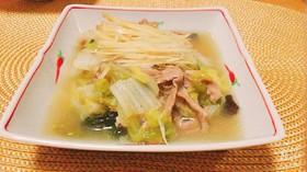 白菜と豚肉の旨煮*。