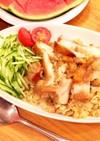 メープル風味の鶏ごぼう混ぜご飯