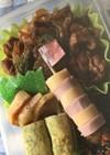 お弁当☆ギョニソとチーかまのシマシマ