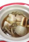 豚の角煮の味噌鍋