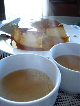 カラメルソースを作った後のカラメルミルク