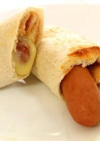 食パンで簡単!ウインナーロール