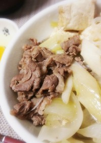 肉豆腐すき焼き風