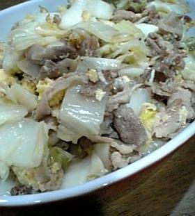 豚キムチならぬ豚白菜