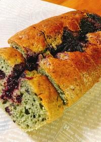 ブルーベリージャムでパウンドケーキ♪