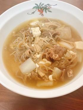 肉の汁☆韓国風食べるスープ