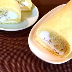 茹で栗で♪マロンクリーム☆ロールケーキ