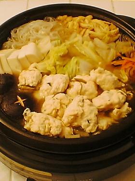 ふわっふわ♪ 鶏団子鍋