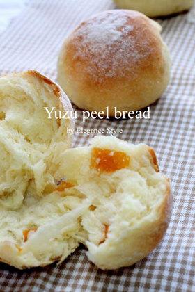 フープロで作る「柚子ピールパン」