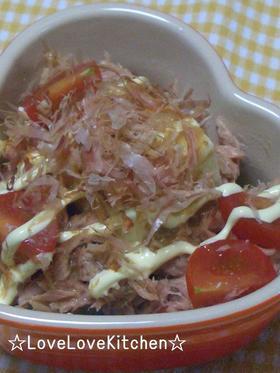 ツナのせ豆腐サラダ