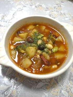 ホッとおいしい、お手軽ビーンズスープ