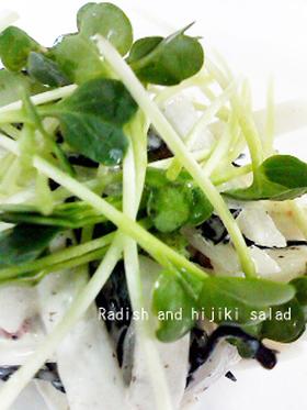 大根とひじきのサラダ