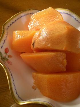 これは!あの味。柿のシロップ漬