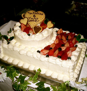 HAPPYウエディングケーキ!