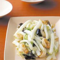 白菜とえびの塩炒め