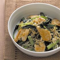 小松菜とささ身のホットサラダ