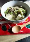 豆乳とキャベツで白い麻婆豆腐