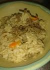 焼き肉のタレで炊き込みご飯