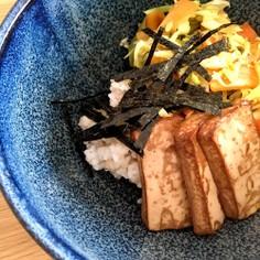野菜だけの簡単お昼ご飯 - とうふ丼!
