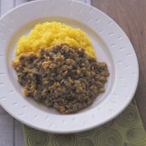 レンズ豆のキーマカレー