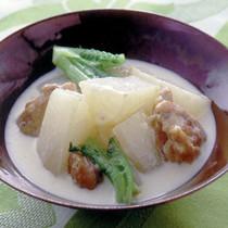 大根と鶏肉のミルク煮