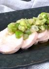 炊飯器保温でしっとり鶏ハム*ねぎ塩たれ