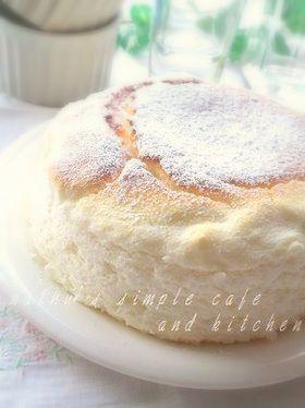 卵白消費に♫純白のヨーグルトチーズスフレ