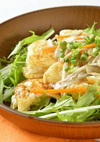 〈痛風の方へ〉豆腐ステーキの野菜あんかけ