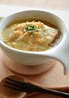 モッチリお麩入り♪オニオングラタンスープ