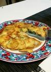 じゃがいもと卵のガレット風 大葉チーズ編