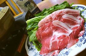 寒い日に♪ほうれん草&豚肉あったか常夜鍋